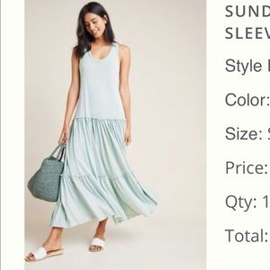 NWT Anthropologie Sundry Maxi Dress in Mint